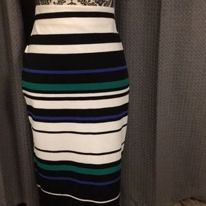 ECI multicolor stretch skirt.  NWOT